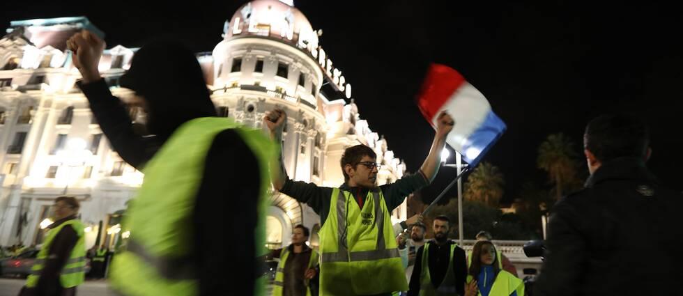 Demonstrationer vid det berömda hotellet Negresco i Nice tidigare i veckan.