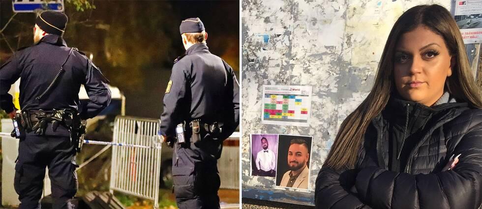 Dia Gaff och bilder från brottsplatsen