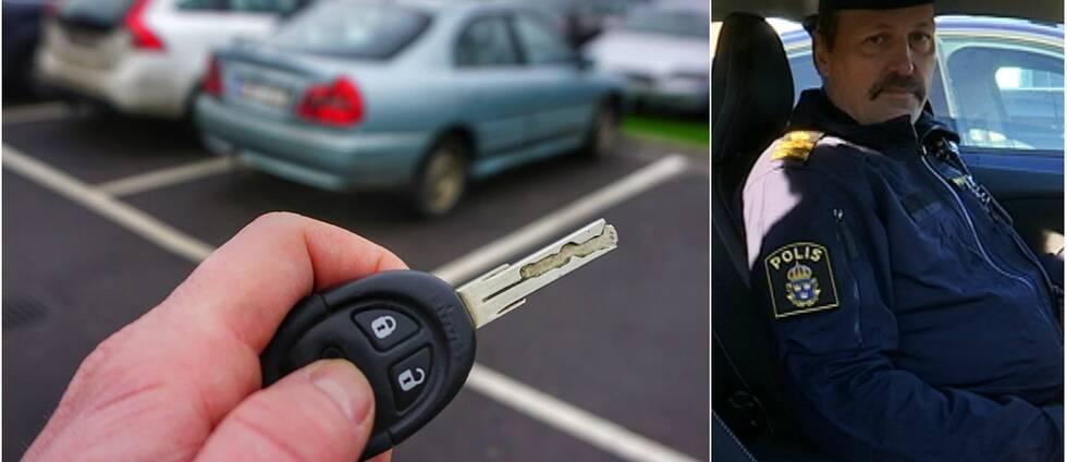 Genom att blockera signalen från bilens nyckel hindrar tjuven bilen från att låsas, säger Göran Holmgren kommunpolis i Malmö.
