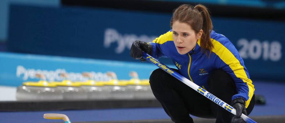Anna Hasselborg under OS i Sydkorea.