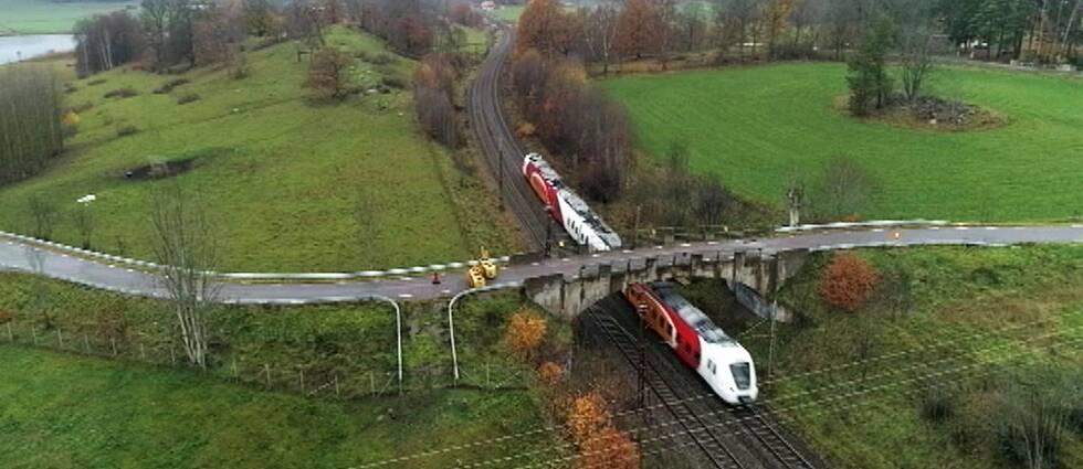 bro över järnvägen norsholm
