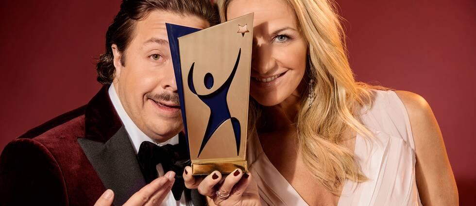 Programledare David Sundin och Kristin Kaspersen