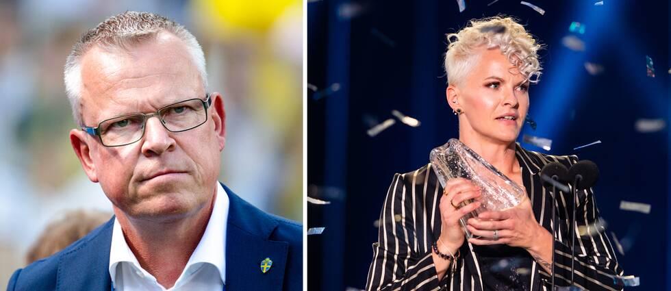 Janne Andersson och Nilla Fischer.