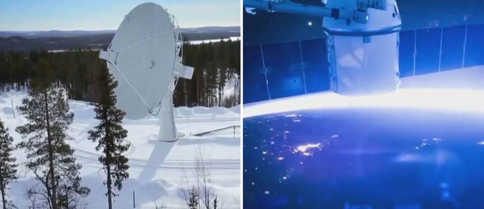 Parabol och satellit