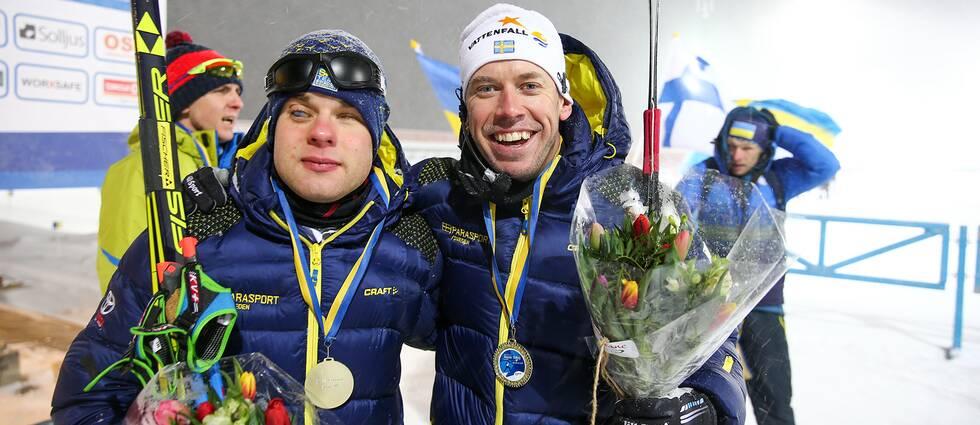 Zebastian Modin tillsammans med Emil Jönsson Haag.