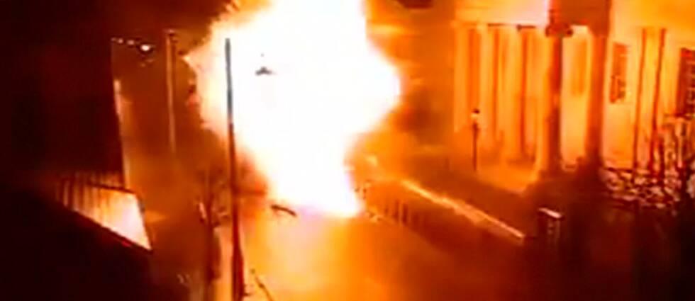 Bilexplosionen i Londonderry.