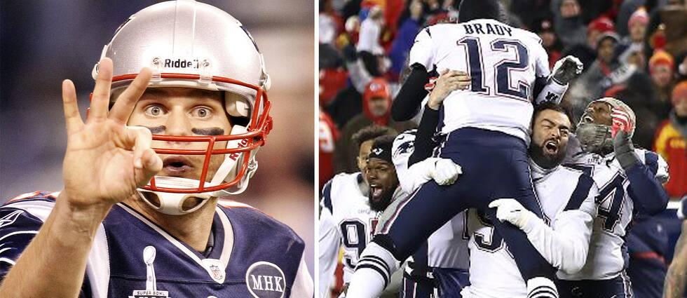 New Englad Patriots klart för Super Bowl.