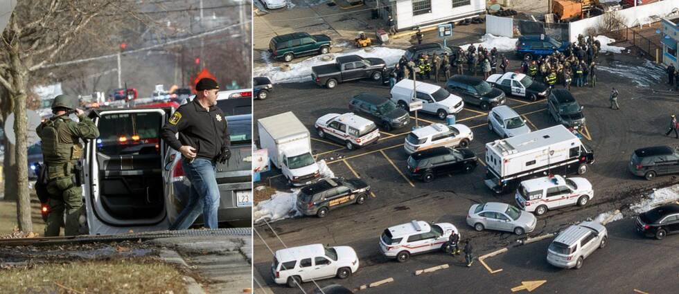 Sex personer, inklusive skytten, dog unde ren skottlossning i Aurora utanför Chicago i USA under fredagskvällen svensk tid.