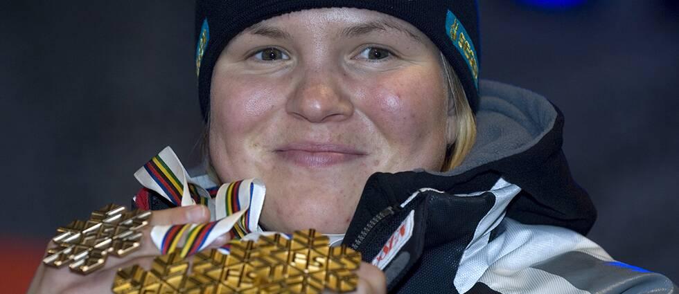 Björn Fagerlind minns Anjas tre VM-guld i Åre 2007.