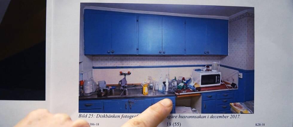 Här är den diskbänk där den brevhotande mannen hade krut – något som Säpo missade vid sin husrannsakan