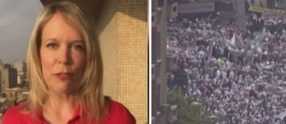 """SVT:s korrespondent Stina Blomgren: """"Människorättsgrupper menar att förtrycket i dag är hårdare än under Mubarak"""""""
