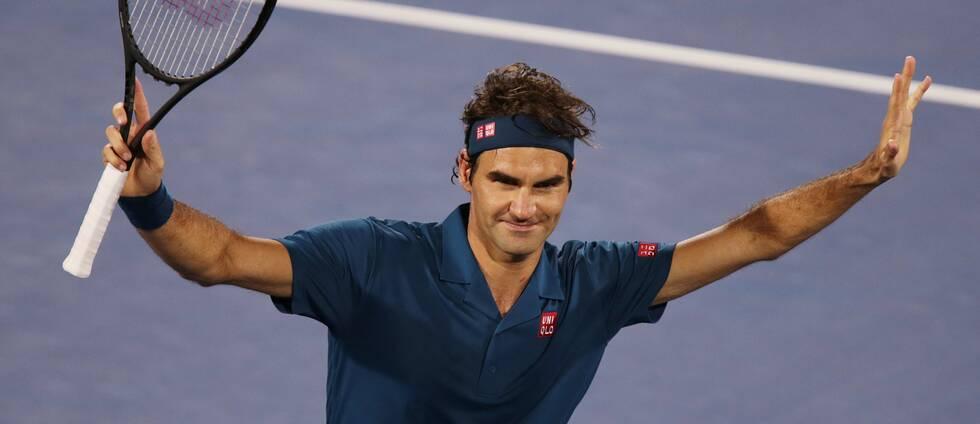 Roger Federer tog sin hundrade ATP-titel.