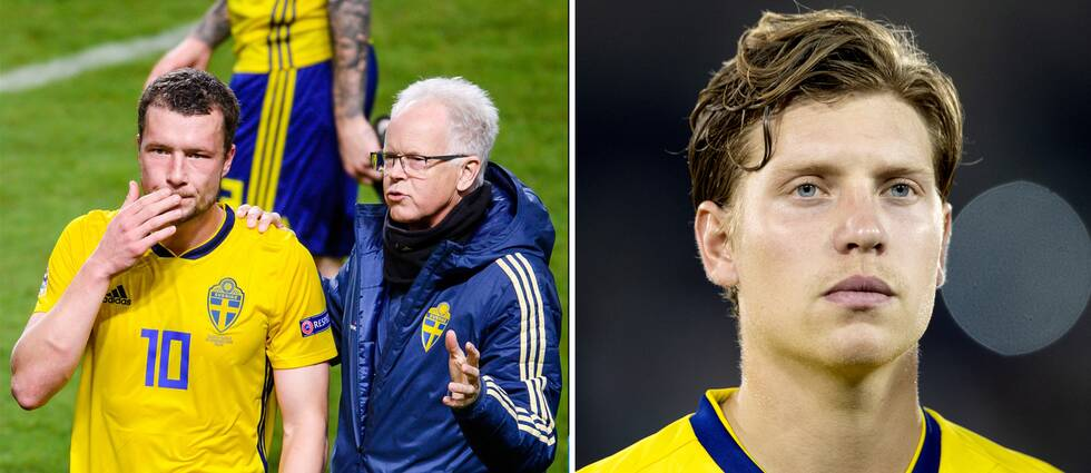 Jakob Johansson (till vänster) lämnar EM-kvaltruppen. Alexander Fransson (höger) ersätter.