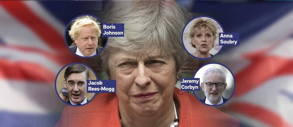 Theresa May och hennes utmanare