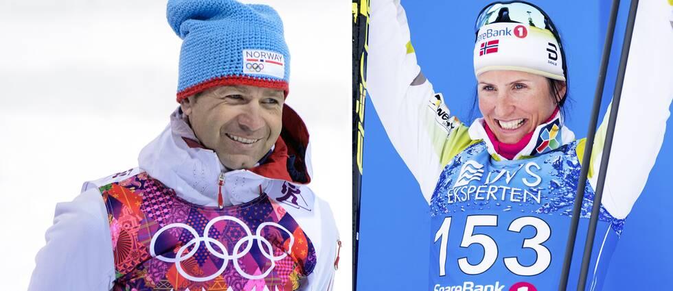 Ole Einar Björndalen och Marit Björgen.