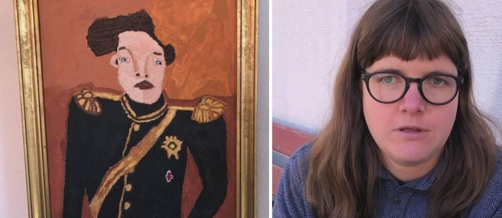 – Jag har jättesvårt att känna igen ansikten på folk. Mitt uttryck är att jag målar ansikten. Jag vill fånga personernas blickar, säger Amalia Åslund Rolder.