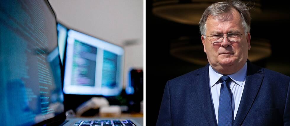 Danmarks försvarsminister Claus Hjort Frederiksen vill införa försök med cybervärnplikt. Arkivbild.