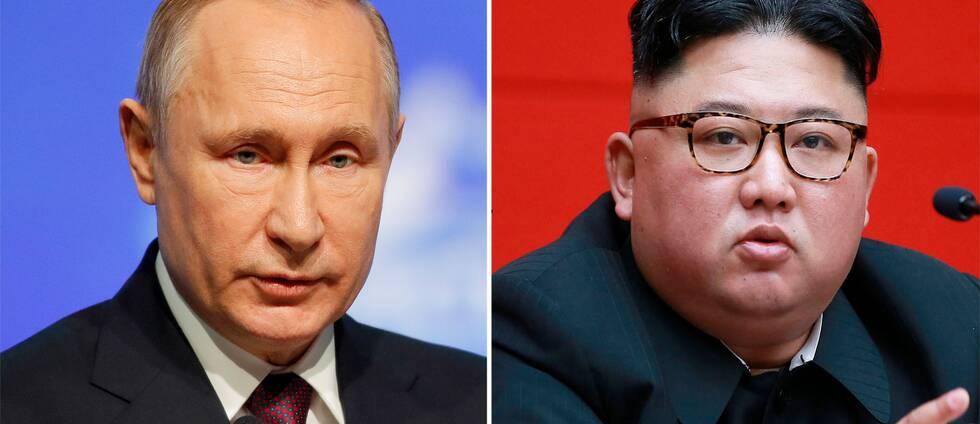 Vladimir Putin och Kim Jong-Un