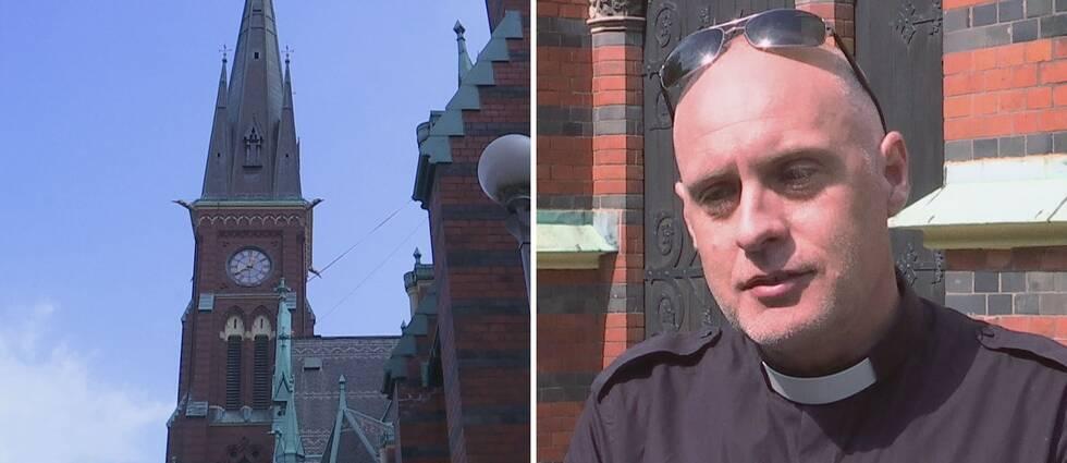 Pontus Nilsen präst vid Oscar Fredrikskyrkan