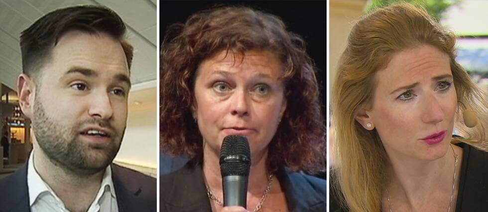 Erik Bengtzboe (M), Emma Carlsson Löfdahl (L) och Caroline Szyber (KD) är tre av de svenska politiker som hamnat i rejäla blåsväder i Aftonbladets granskning.