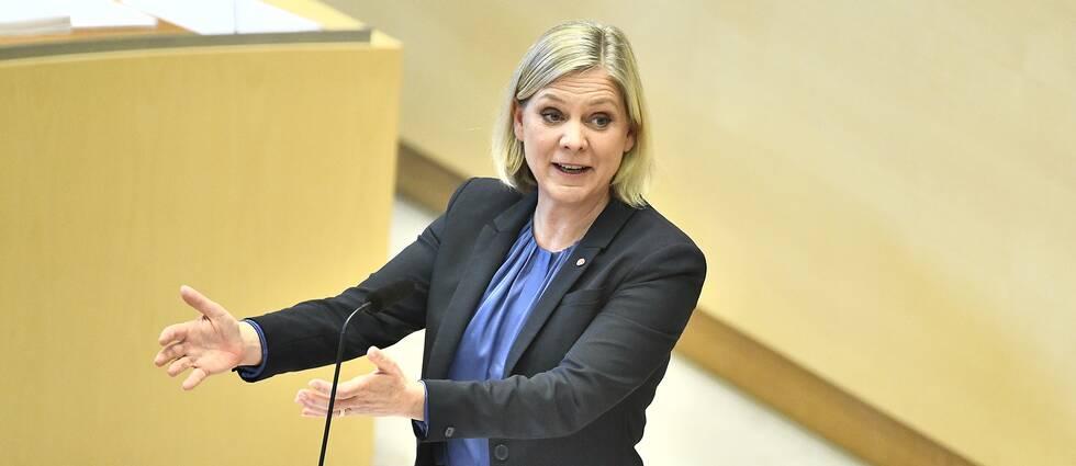 Finansminister Magdalena Andersson (S) vill se skärpta tag kring välfärdsbrott. Arkivbild.
