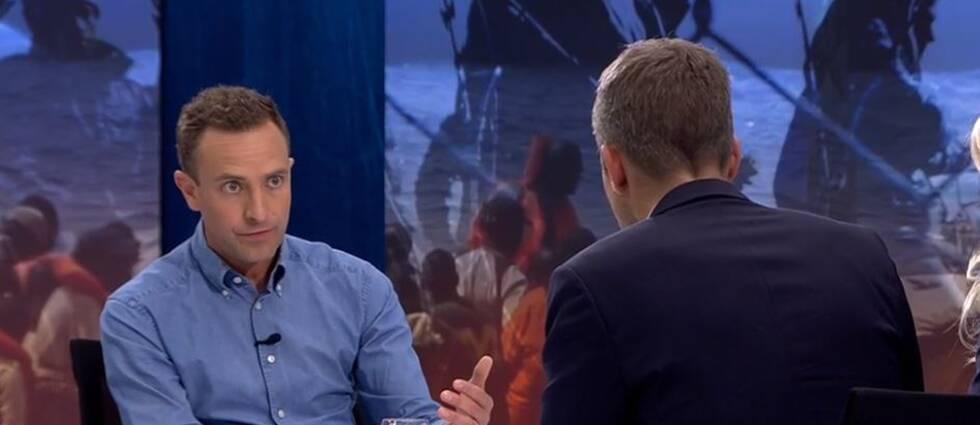 Tomas Tobé intervjuas.