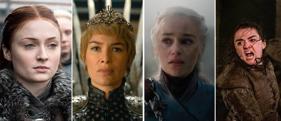 Även fast det finns många starka kvinnliga karaktärer i Game of thrones får de 3 gånger mindre taltid än de manliga karaktärerna.