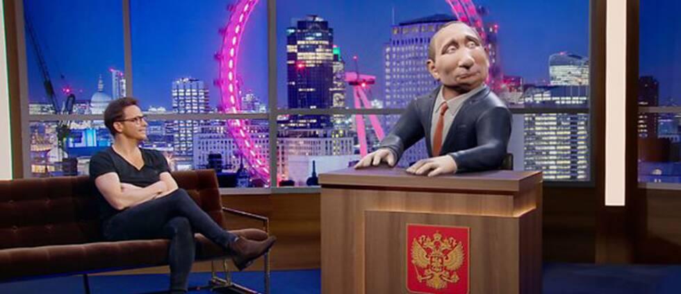 BBC lanserar ett satirprogram med en datoranimerad version av Rysslands president som programledare.