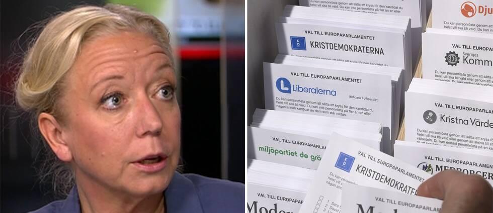 Elisabeth Marmorstein och valsedlar.