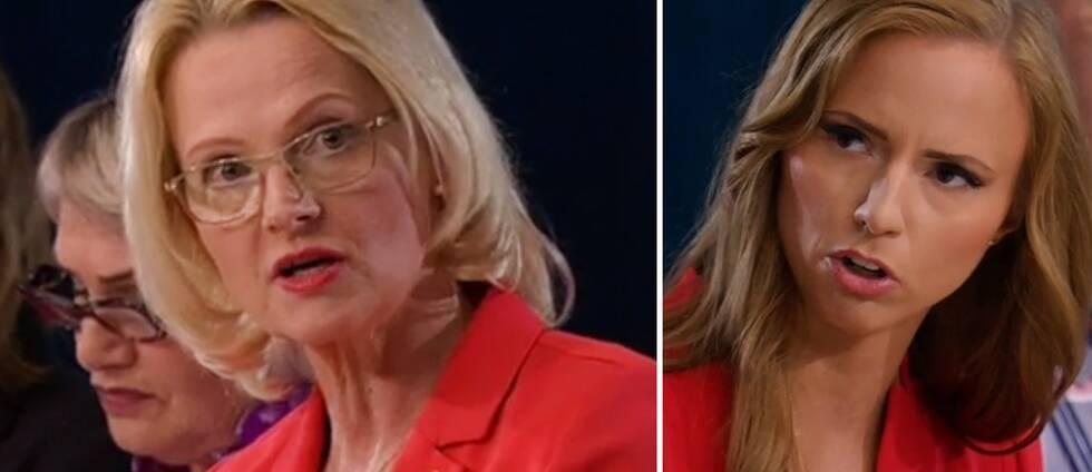 Socialdemokraternas Heléne Fritzon och Kristdemokraternas Sara Skyttedal i SVT:s EU-valdebatt