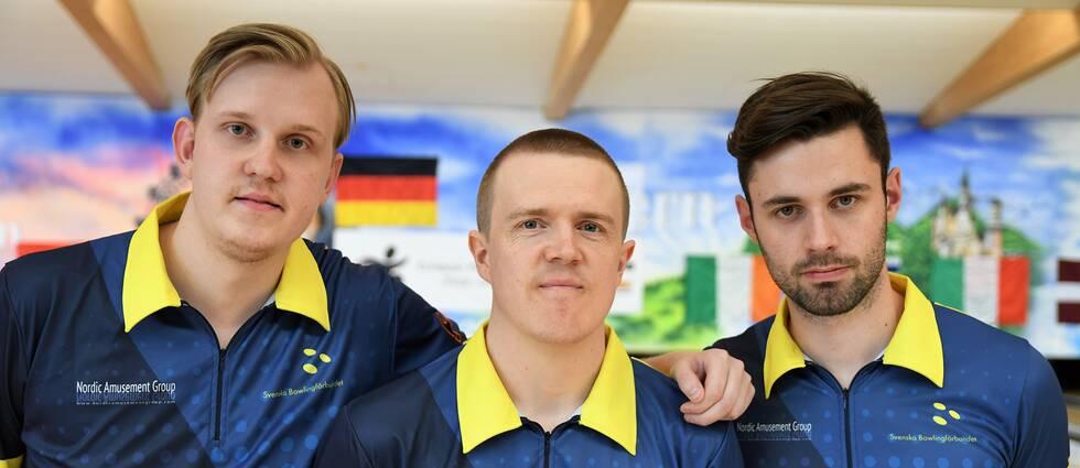 Tremannalaget Mattias Wetterberg, Mattias Olsson och Adam Andersson tog brons på bowling-EM i Tyskland.