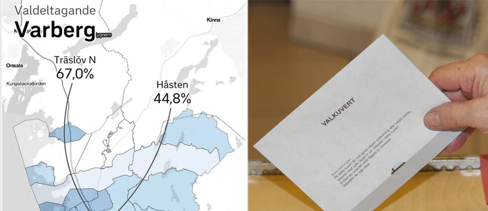 Stora skillnader i valdeltagandet beroende på var du bor