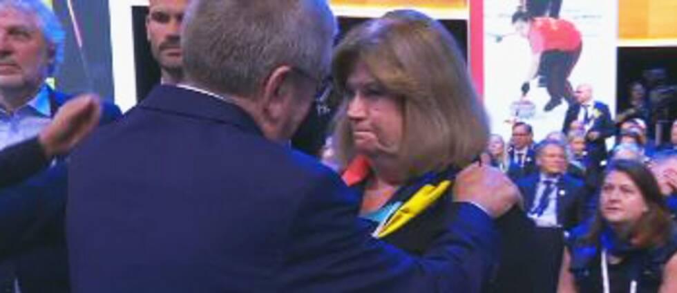 Gunilla Lindberg besviken efter OS-nobben.