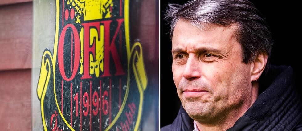 Daniel Kindberg och Östersunds FK:s klubbmärke.