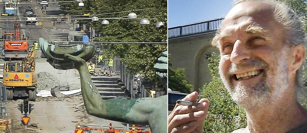 Jens Albert från Köpenhamn, som har varit i Göteborg flera gånger tidigare, störs inte av att det grävs i staden.