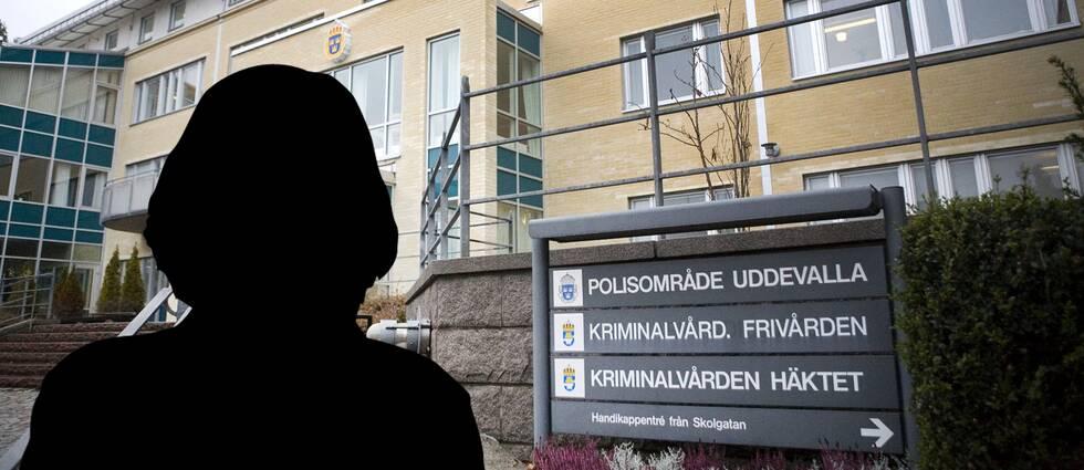 Personen från hemstjänsten sitter anhållen, skäligen misstänkt för att ha våldtagit den 90-åriga kvinnan i Uddevalla.