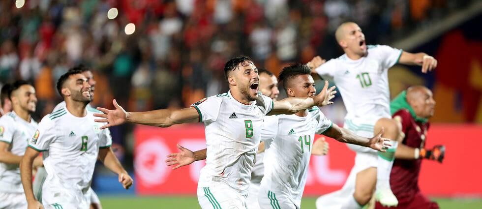 Algeriet jublar efter segern i Afrikanska Mästerskapen.