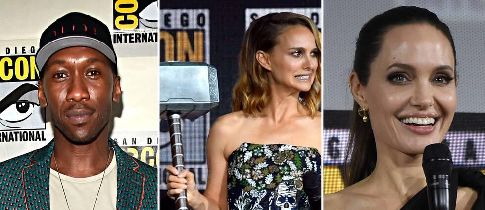 Mahershala Ali, Natalie Portman och Angelina Jolie är aktuella med varsin ny Marvel-film.