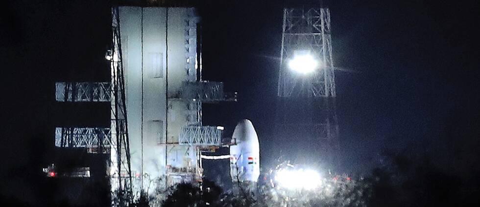 Indiska rymdfarkosten Chandrayaan-2.