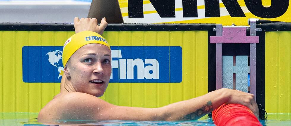 Sarah Sjöström blev tvåa på 100 meter fjäril.