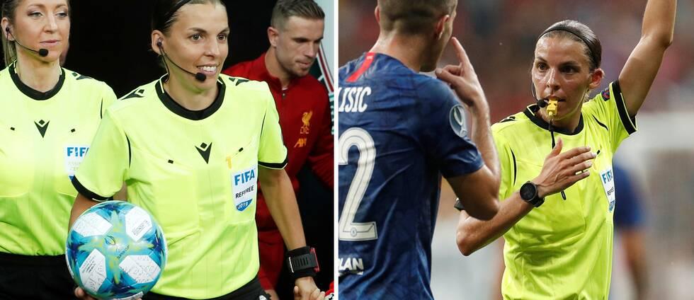 Fransyskan Stephanie Frappart blev första kvinna att döma en europeisk herrfinal när hon och hennes team dömde europeiska supercupfinalen mellan Liverpool och Chelsea.