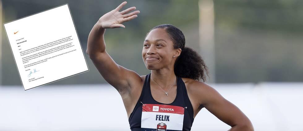 Allyson Felix och övriga Nike-idrottare har fått ett nytt avtal.