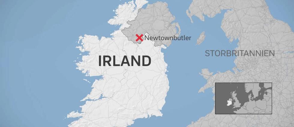 Explosionen inträffade i nordirländska Newtownbutler några kilometer från gränsen till Irland.