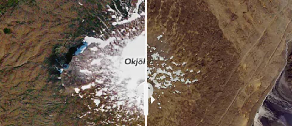 Ökjökull, en gång en ikonisk glaciär, som förklarades död år 2014