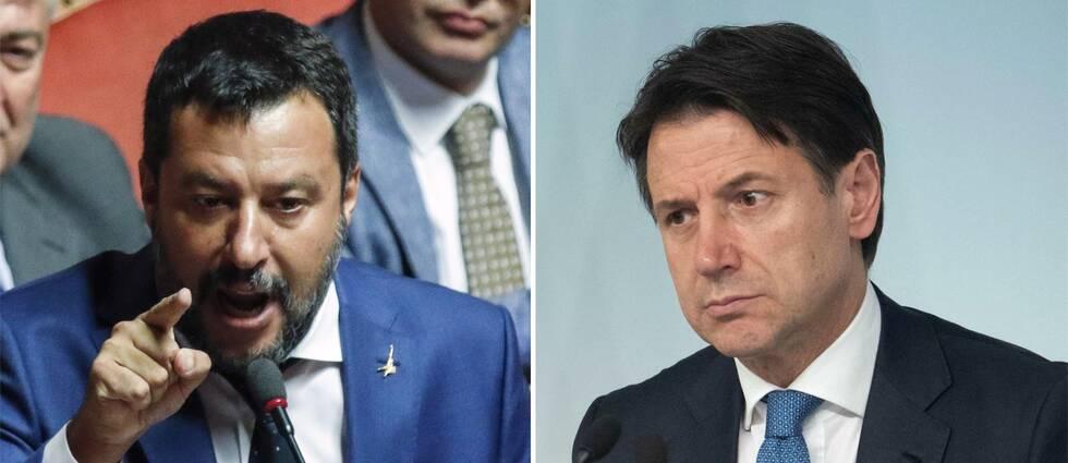 Matteo Salvini och Giuseppe Conte.