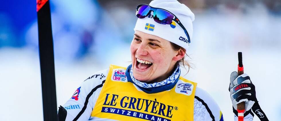 Bild på Ida Ingemarsdotter efter en världscupstävling
