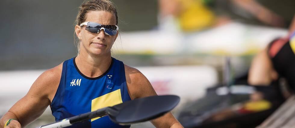 En missnöjd Helene Ripa efter semifinalen.