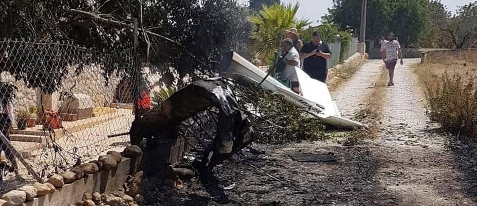 Flygplanet slog ner på en uppfart nära staden Inca.