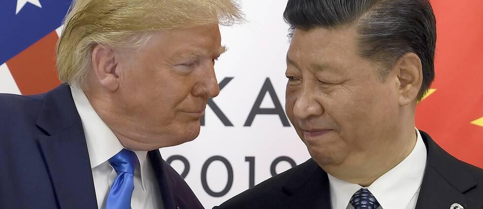USA:s president Donald Trump till vänster och Kinas president Xi Jinping
