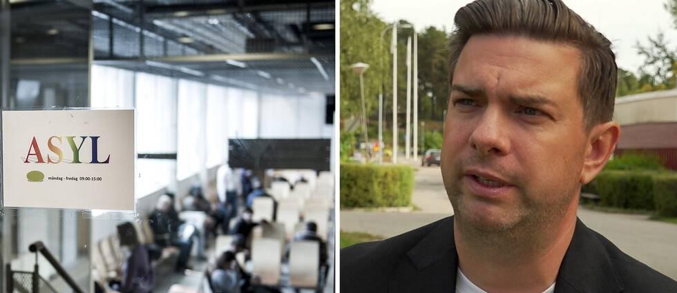Migrationsverket i Solna och det socialdemokratiska kommunalrådet Jimmy Jansson.